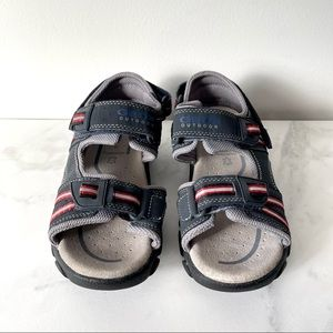 Like New! Boys Geox blue velcro sandals size 3.5
